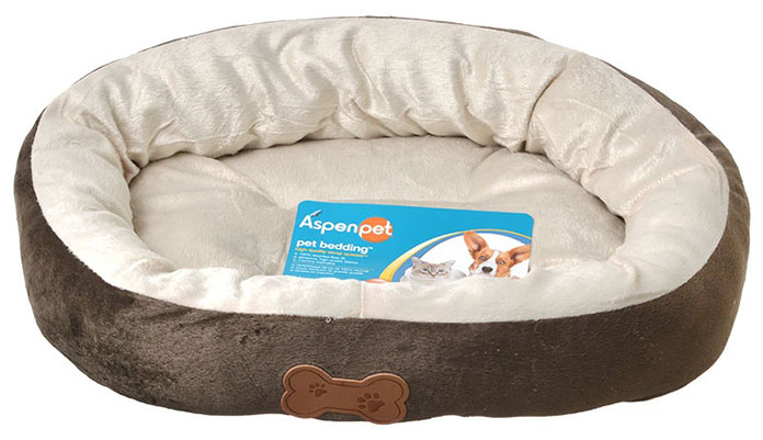 aspen pet oval washable dog bed