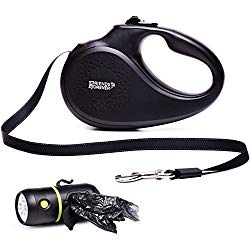 reflective retractable nylon leash